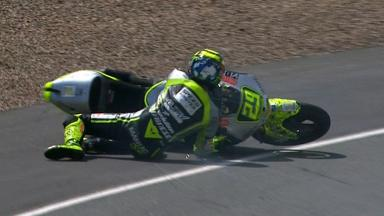 Sachsenring 2012 - Moto2 - Race - Action - Andrea Iannone - Crash