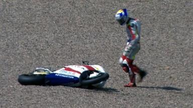 Sachsenring 2012 - Moto2 - Race - Action - Randy Krummenacher - Crash