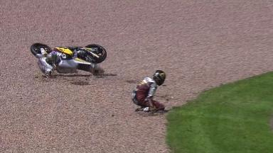 Sachsenring 2012 - Moto2 - Race - Action - Scott Redding - Crash