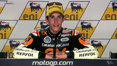 Sachsenring 2012 - Moto2 - Race - Interview - Marc Marquez