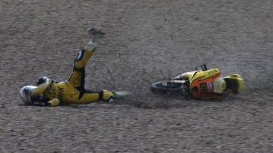 Sachsenring 2012 - Moto3 - Race - Action - Adrian Martin - Crash