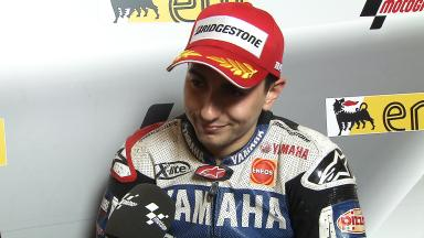 Lorenzo happy with second place