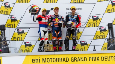 Masbou, Cortese, Salom, Caretta Technology, Red Bull KTM Ajo, RW Racing GP, Sachsenring RAC