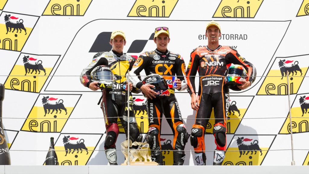 Kallio, Marquez, De Angelis, Marc VDS Racing Team, Team CatalunyaCaixa Repsol, NGM Mobile Forward Racing, Sachsenring RAC
