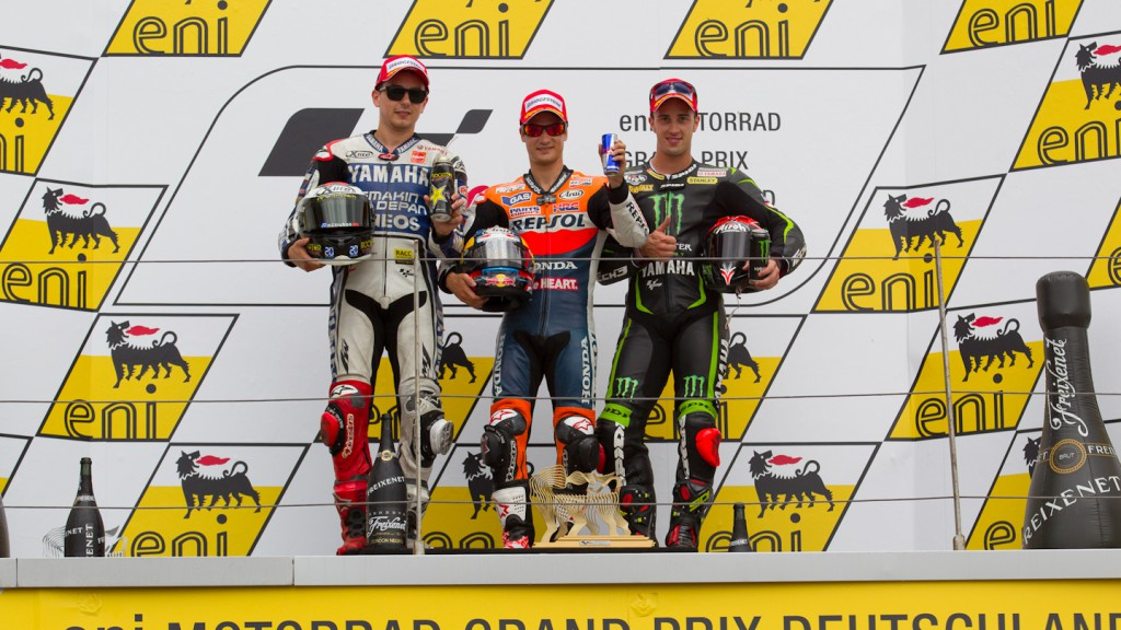 Lorenzo, Pedrosa, Dovizioso, Yamaha Factory Racing, Repsol Honda Team, Monster Yamaha Tech 3, Sachsenring RAC