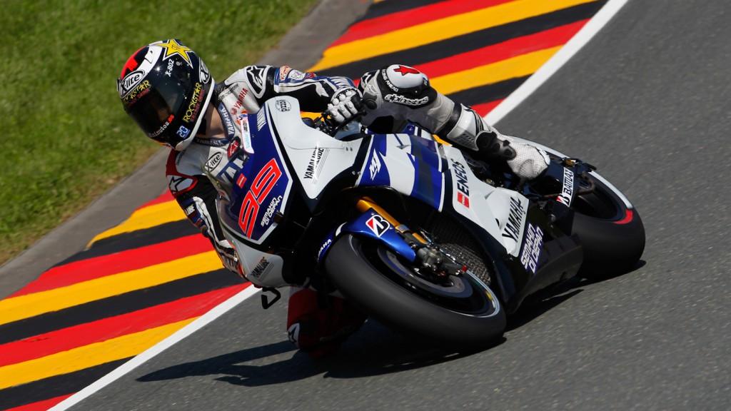 Jorge Lorenzo, Yamaha Factory Racing, Sachsenring WUP