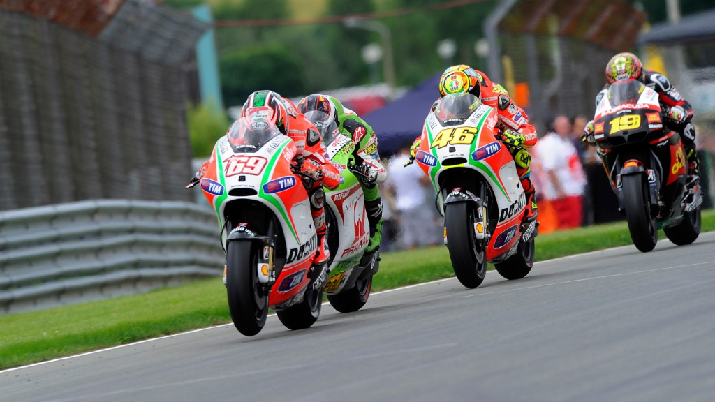 Nicky Hayden, Valentino Rossi, Ducati Team, Sachsenring RAC