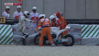 Mugello 2012 - Moto2 - FP1 - Action - Mike Di Meglio - Crash