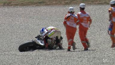 Mugello 2012 - Moto2 - FP2 - Randy Krummenacher - Crash