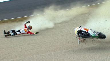 Mugello 2012 - MotoGP - FP3 - Action - Alvaro Bautista - Crash