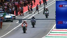 In a scintillating qualifying session at the Gran Premio d'Italia TIM at Mugello in hot conditions it was Repsol Honda Team's Dani Pedrosa who put in a record-beating lap to take pole position for tomorrow's race ahead of Jorge Lorenzo and Héctor Barberá.