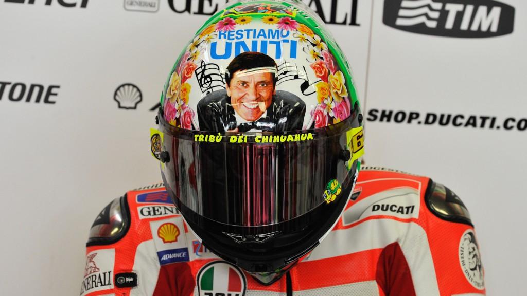 Valentino Rossi Helmet, Ducati Team, Mugello FP3