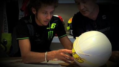 Rossi's 2012 Mugello helmet in the making