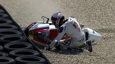 Mugello 2012 - Moto2 -Race - Action - Mike Di Meglio - Crash
