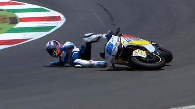 Mugello 2012 - Moto2 -Race - Action - Massimo Roccoli - Crash