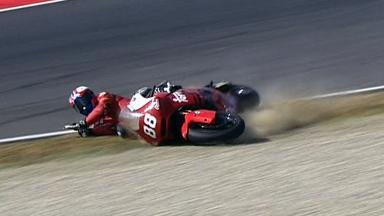 Mugello 2012 - Moto2 - Warm Up - Action - Ricard Cardus - Crash