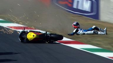 Mugello 2012 - Moto2 - Warm Up - Action - Massimo Roccoli - Crash