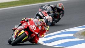Melandri takes victory from Vermeulen and Rossi in thriller