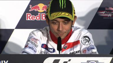 Valentino Rossi talks about his options for 2013