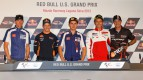 Spies, Stoner, Lorenzo, Rossi, Edwards, Red Bull U.S. Gradn Prix Press Conference