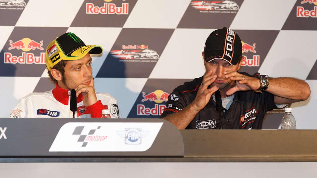 Valentino Rossi, Colin Edwards, Ducati Team, NGM Mobile Forward Racing, Red Bull U.S. Grand Prix Press Conference