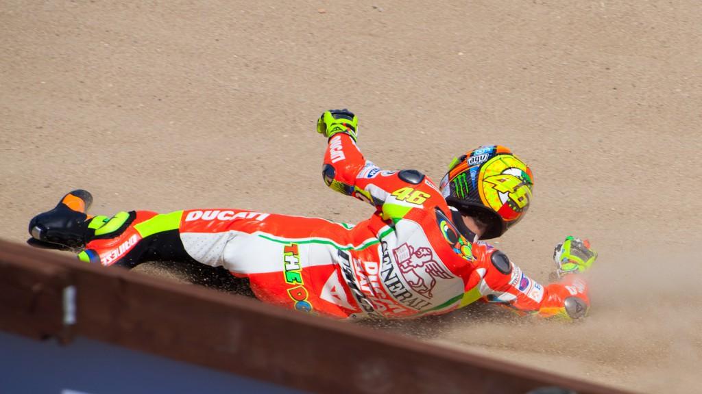 Valentino Rossi, Ducati Team, Laguna Seca FP2 © Copyright Les Kalman