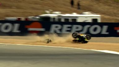 Laguna Seca 2012 - MotoGP - FP2 - Action - Cal Crutchlow - Crash