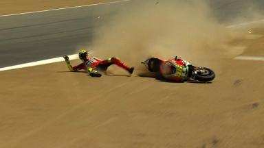 Laguna Seca 2012 - MotoGP - FP2 - Action - Valentino Rossi - Crash