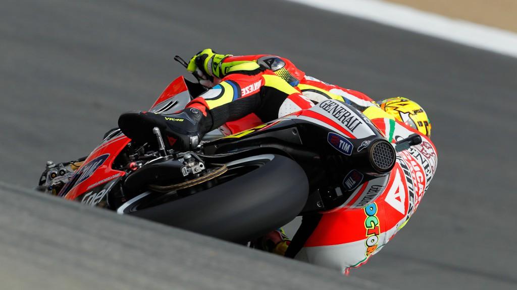 Valentino Rossi, Ducati Team, Laguna Seca FP2
