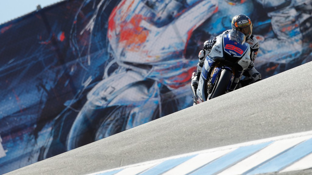 Jorge Lorenzo, Yamaha Factory Racing, Laguna Seca FP1