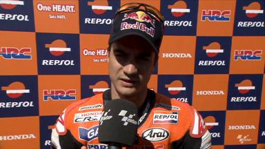 Pedrosa struggling with rear grip
