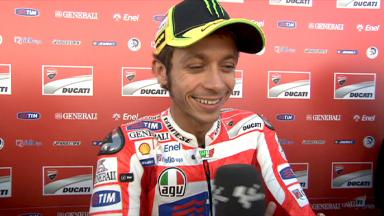Rossi rues crash in the afternoon