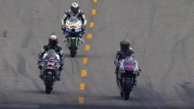 In the final practice of the Red Bull U.S. Grand Prix at Laguna Seca, misty conditions known as