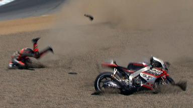 Laguna Seca 2012 - MotoGP - QP - Action - Mattia Pasini - Crash