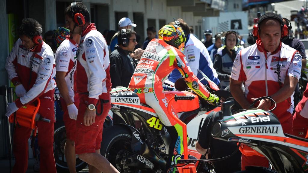 Valentino Rossi, Ducati Team, Laguna Seca FP3