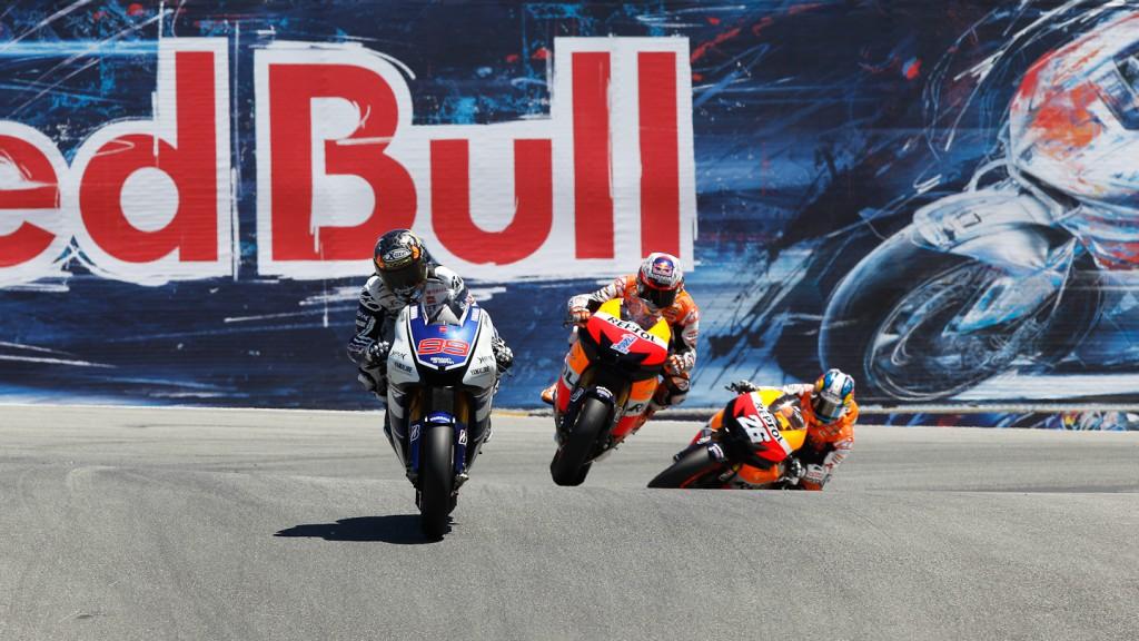 Jorge Lorenzo, Casey Stoner, Dani Pedrosa, Yamaha Factory Racing, Repsol Honda Team, Laguna Seca RAC