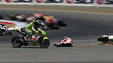 Laguna Seca 2012 - MotoGP - Race - Action - Michele Pirro - Crash