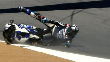 Laguna Seca 2012 - MotoGP - Race - Action - Ben Spies - Crash