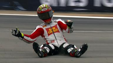 Laguna Seca 2012 - MotoGP - Warm Up - Action - Alvaro Bautista - Crash