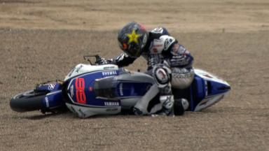 Laguna Seca 2012 - MotoGP - Warm Up - Action - Jorge Lorenzo - Crash