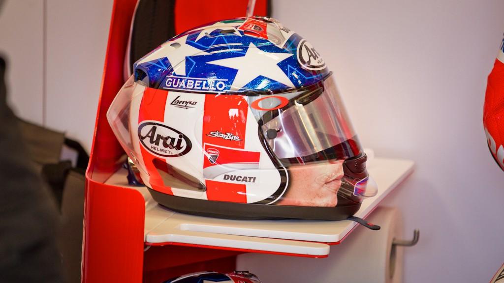 Helmet, Nicky Hayden, Ducati Team, Laguna Seca WUP
