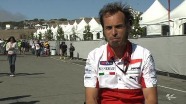 Guareschi on Iannone and Redding Ducati test
