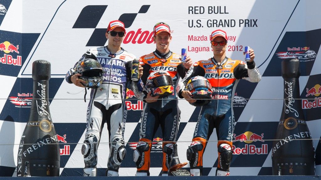 Lorenzo, Stoner, Pedrosa, yamaha Factory Racing, Repsol Honda Team, Lguna Seca RAC