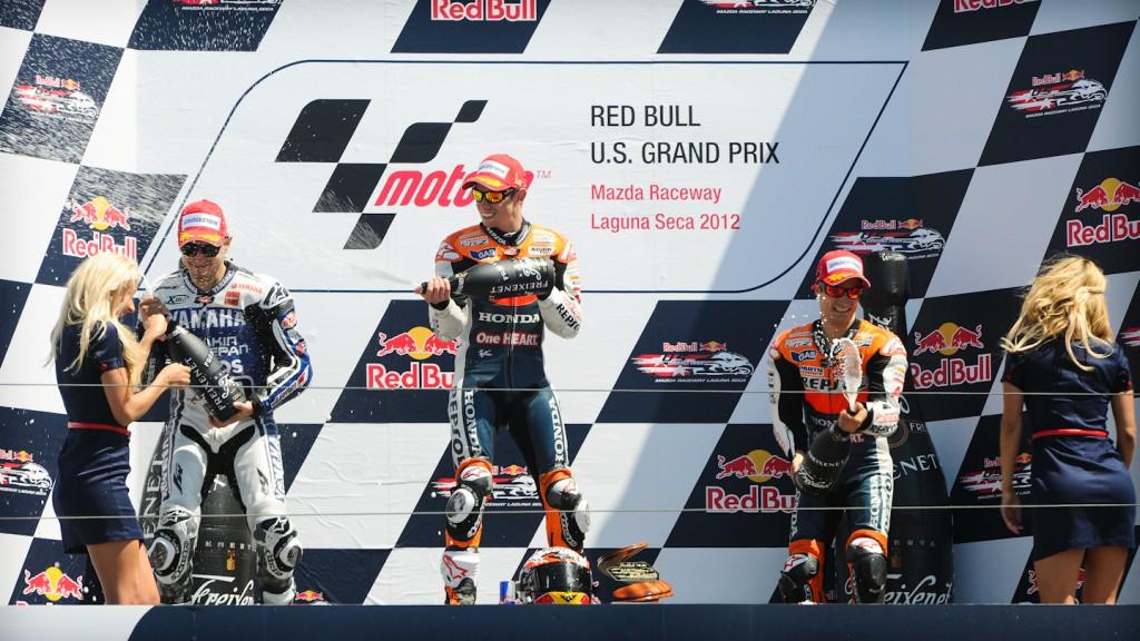 Jorge Lorenzo, Casey Stoner, Dani Pedrosa, Yamaha Factory Racing, Repsol Honda Team, Laguan Seca RAC
