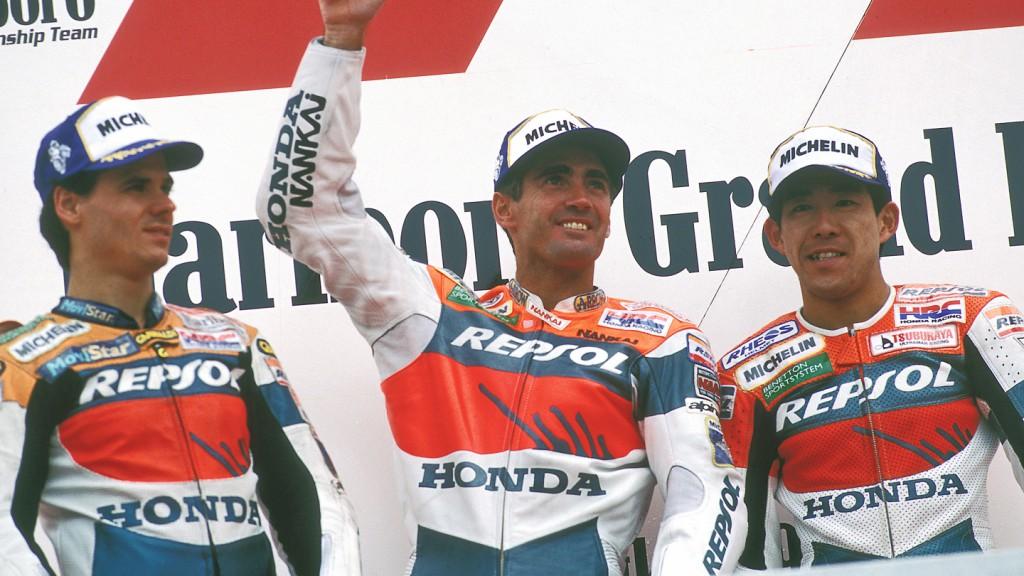 1997 Alex Criville, Mick Doohan, Tady Okada, Repsol Honda Team