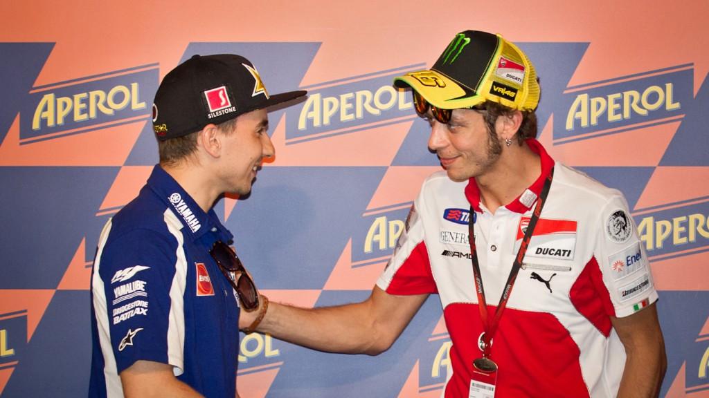 Jorge Lorenzo, Valentino Rossi, Yamaha Factory Racing, Ducati Team