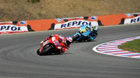 World Championship leader Casey Stoner was in dominant form at Brno on Sunday afternoon as he earned his seventh win of 2007, riding to victory by a 7.9 second margin to extend his standings lead to 60 points with just six races to go.