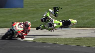 Indianapolis 2012 - MotoGP - FP1 - Action - Hector Barbera - Crash