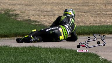 Indianapolis 2012 - MotoGP - FP1 - Action - Cal Crutchlow - Crash