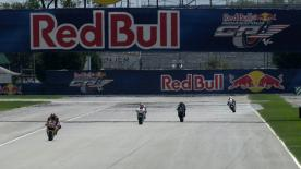 On the first day of free practice at the Red Bull Indianapolis Grand Prix it was Repsol Honda Team's Dani Pedrosa who was on scorching form as he topped the timesheets in the second session ahead of Ben Spies and Jorge Lorenzo.